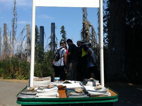 Infostánek na Šumavě 2015